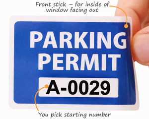 Parking permit decals