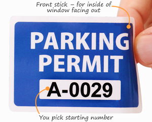 Parking permit decals