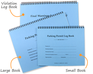 Parking permit log books