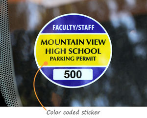 Sticker for student parking