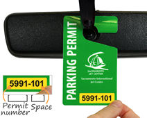 Custom parking permit for airport