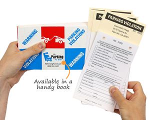 Parking tickets in a handy book