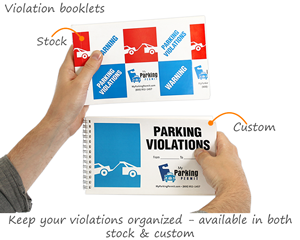 Parking violation book