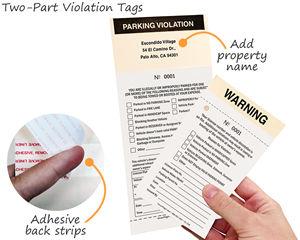 Parking violation tags