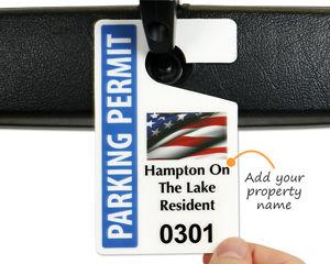 Patriotic parking tags