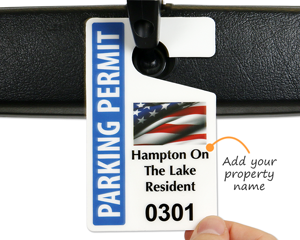 Patriotic parking tags