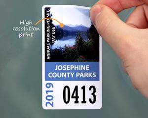 Photo parking permit sticker