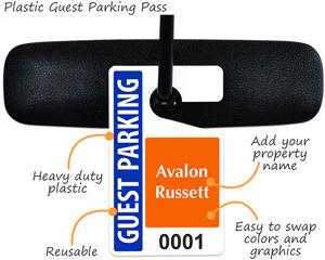 Plastic Guest Parking Pass