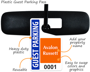 Plastic Guest Parking Pass