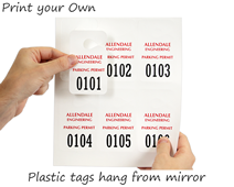 Print your own plastic hang tags