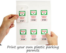 Print your own plastic parking permits