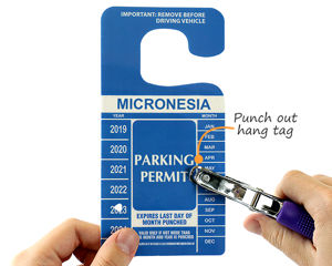 Custom handicapped parking permit tag