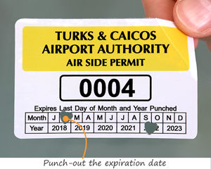 Punch out parking permit stickers