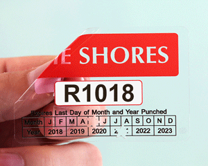Punch out pass for your beach permit