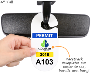 Racetrack Custom Parking Permits