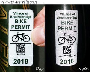 Reflective bike permits