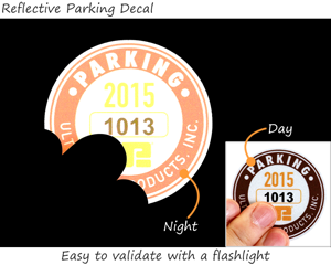 Reflective Parking Permit Decals