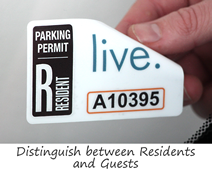 Resident parking permit decal
