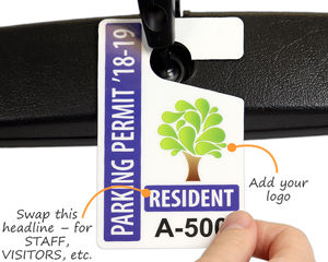Resident parking tag