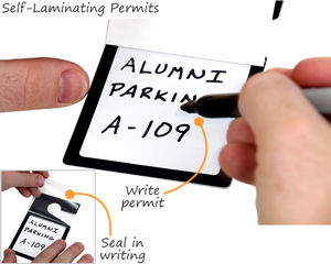Self-laminating parking permit
