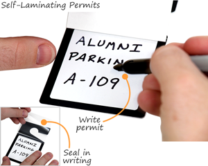 Self-laminating parking permit