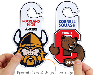 Special shapes for parking hang tags
