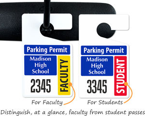 Student and faculty parking passes