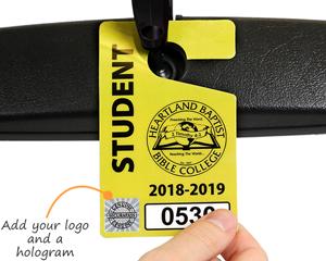 Student parking pass