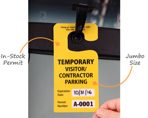 Temporary contractor parking pass