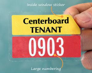 Tenant parking sticker