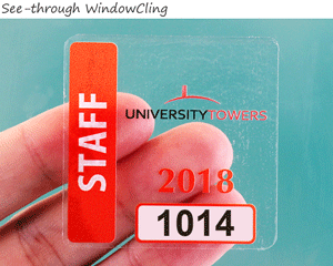 WindowCling parking sticker