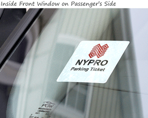 Windshield parking permit decal