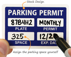 Write in the assigned parking space number