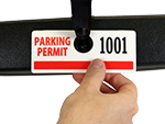 Horizontal Parking Permit Hang Tags