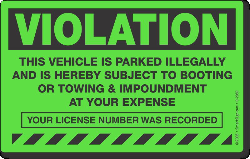 parking violation  u0026 towing stickers  u2013 stop free loaders