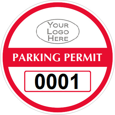 Car Parking Permit Stickers