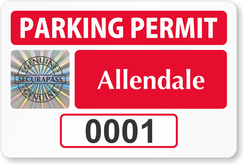 Holographic Parking Permits | Counterfeit-Proof Tags from