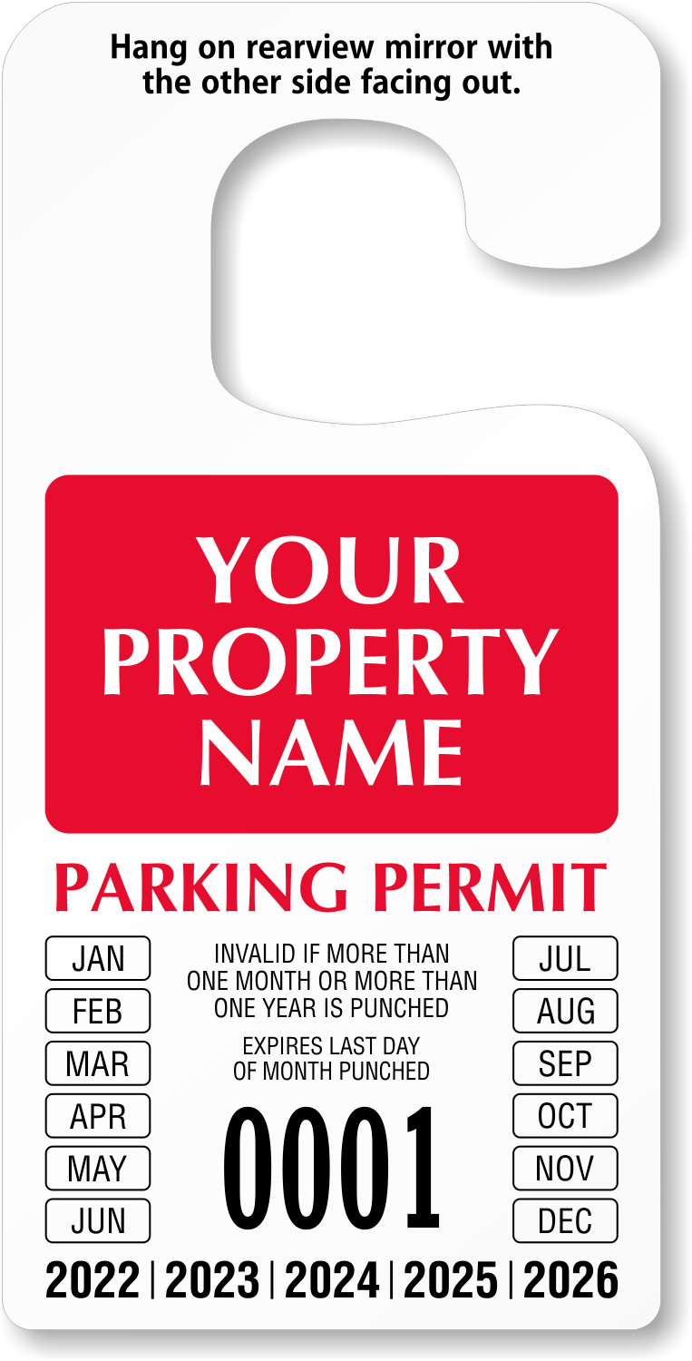 Punch-Out Permits for Expiration Date | MyParkingPermit com