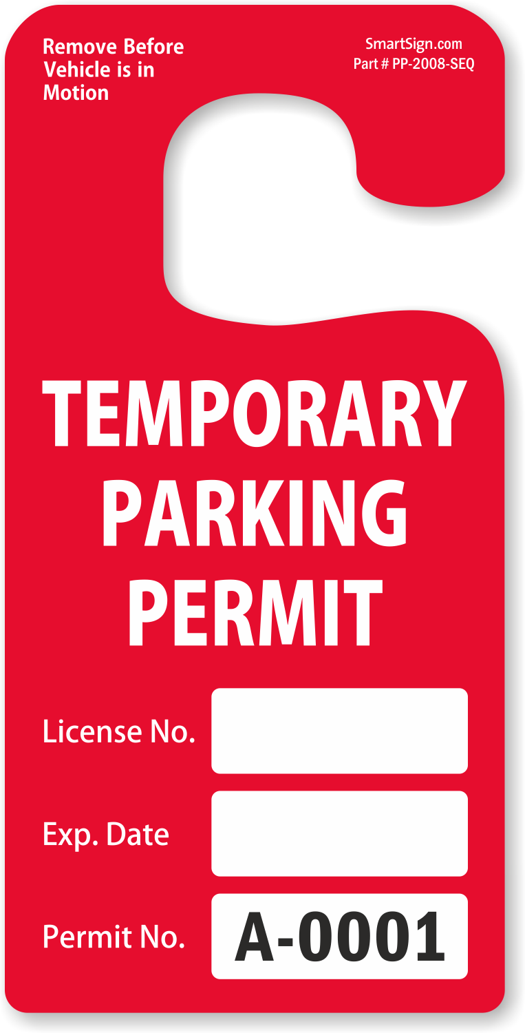 Parking Hang Tags | Design Online at MyParkingPermit