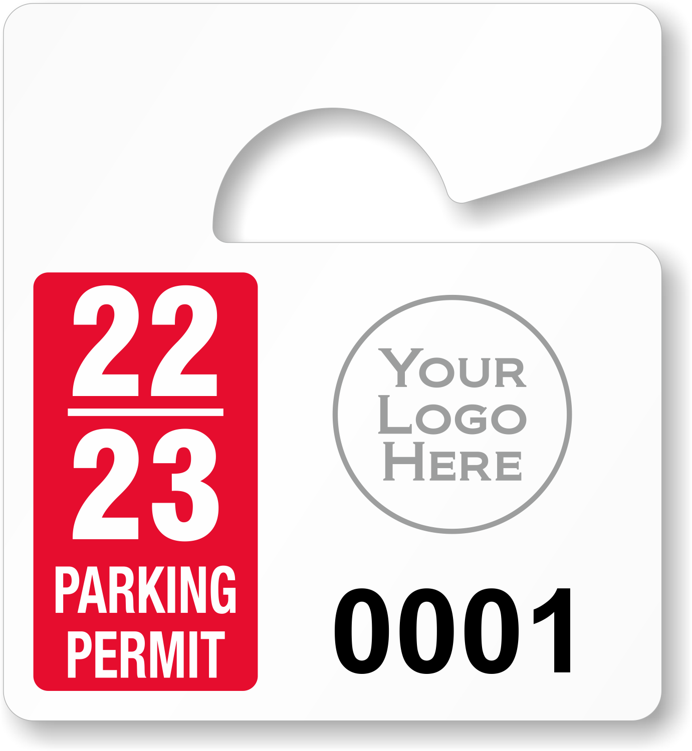 Mini parking permit mirror tags for Hanging parking permit template free