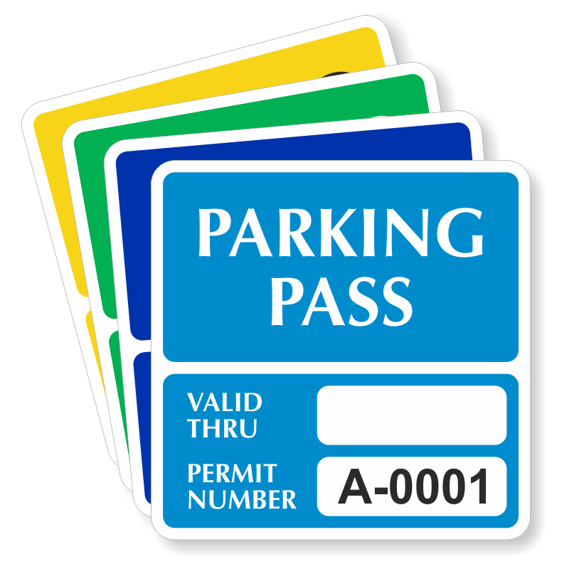 Car Parking Permit Decals