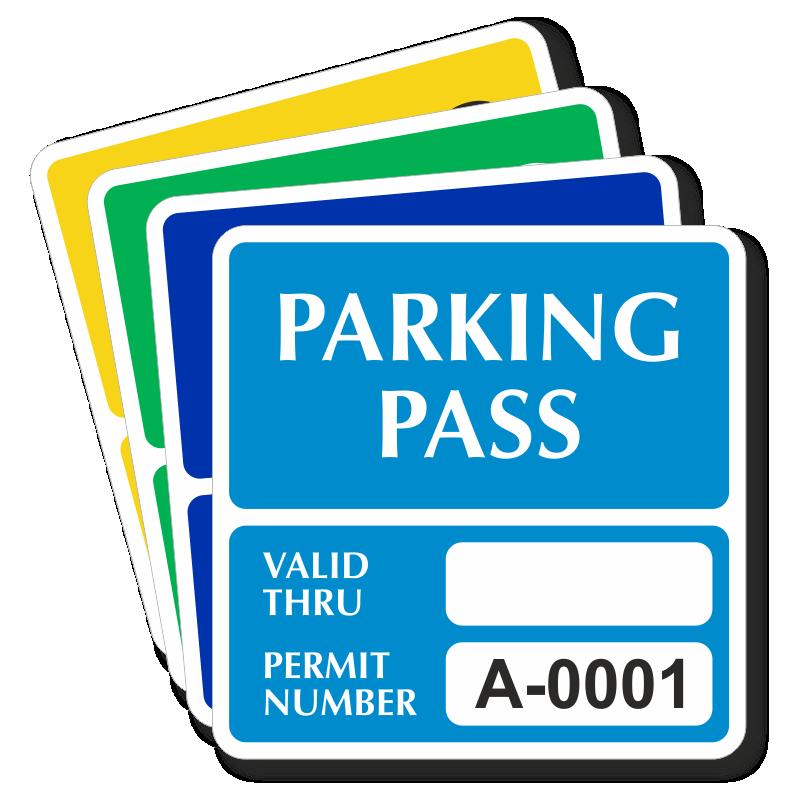 Car Window Parking Stickers