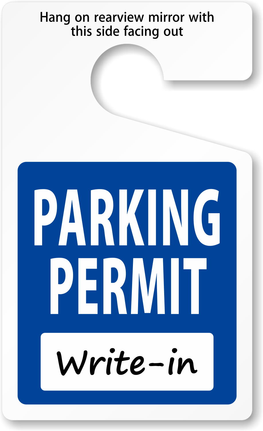 Do It Yourself Parking Permits Made On Site