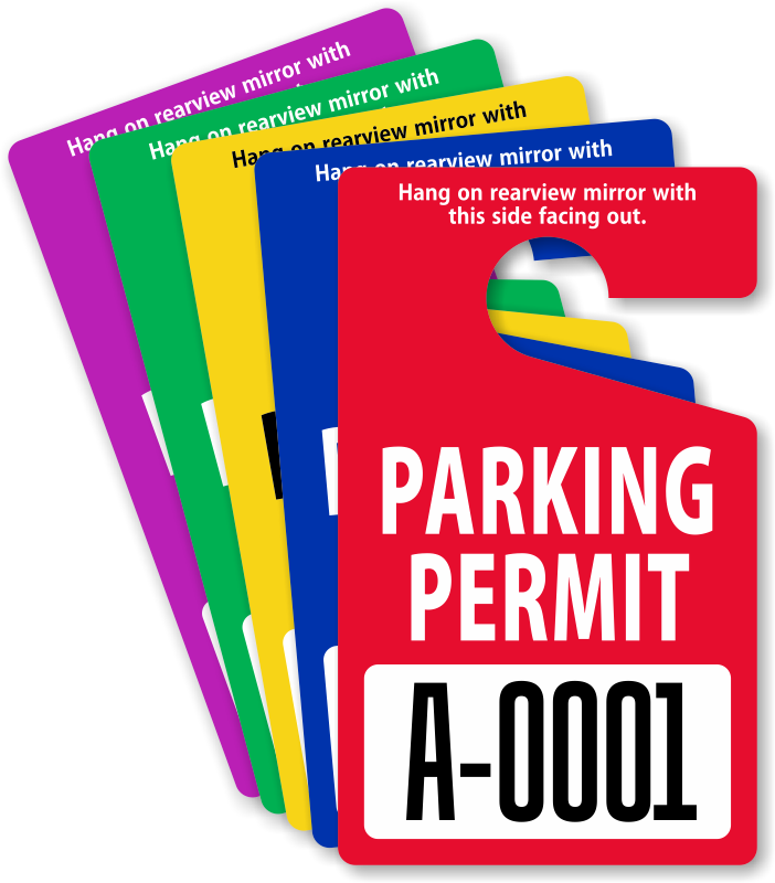 Where To Buy Hanging Parking Tags For Cars