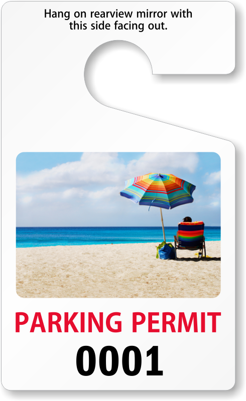 hanging parking permit template free.html