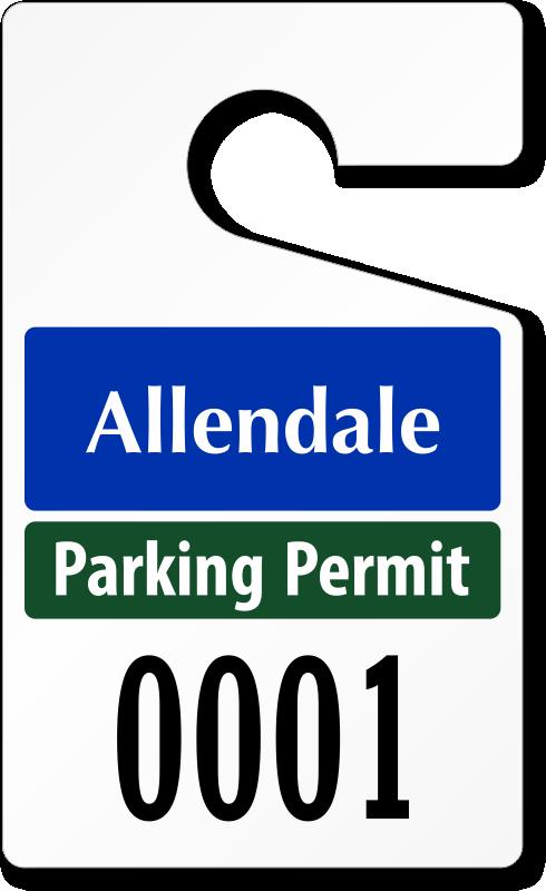 Custom Parking Tag Designs X - Parking permit template