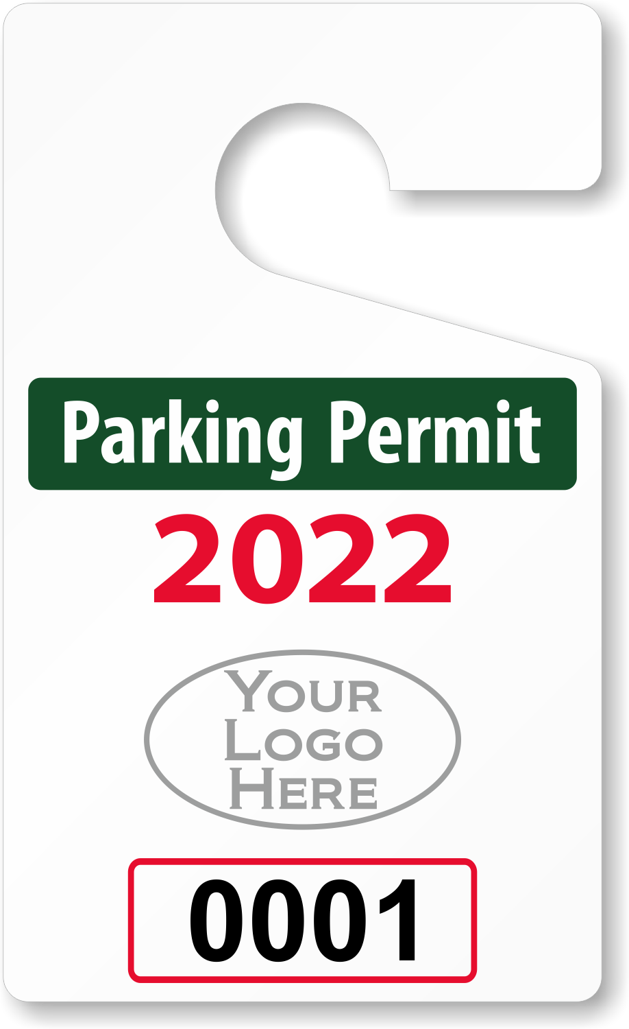 Sizzling image within printable parking pass
