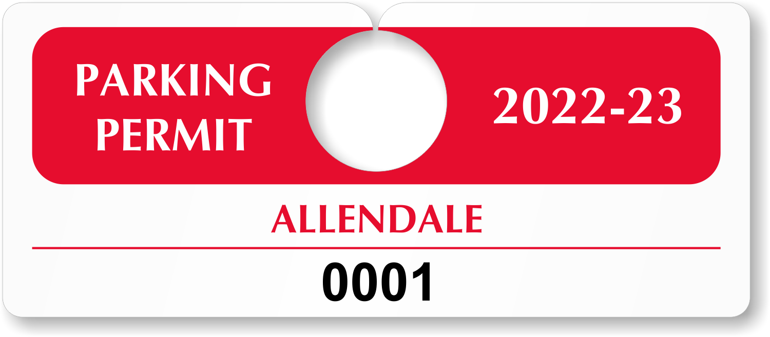 Horizontal hanging parking permits for Hanging parking permit template free