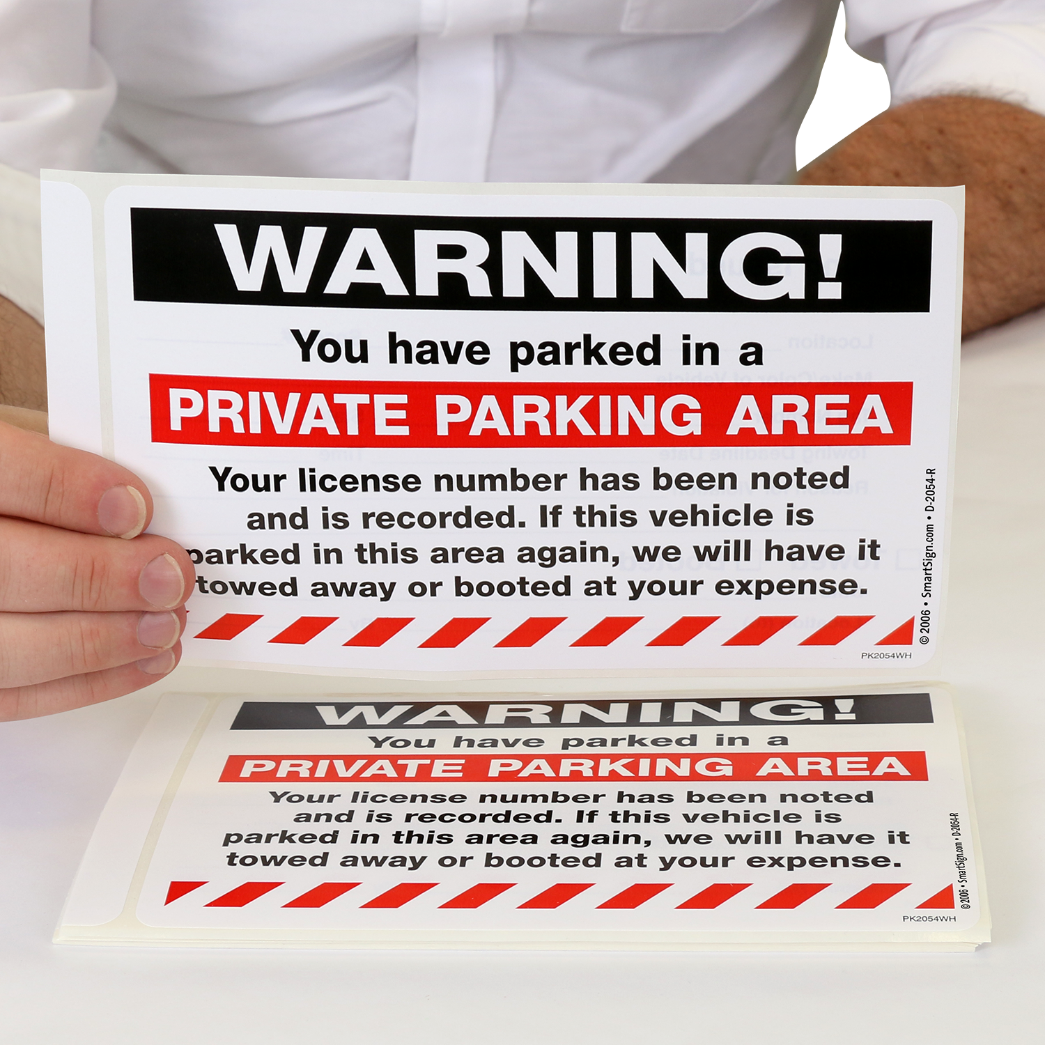 Park0053 Take Note You Are In A Private Parking Zone Sign Sticker Health Safety