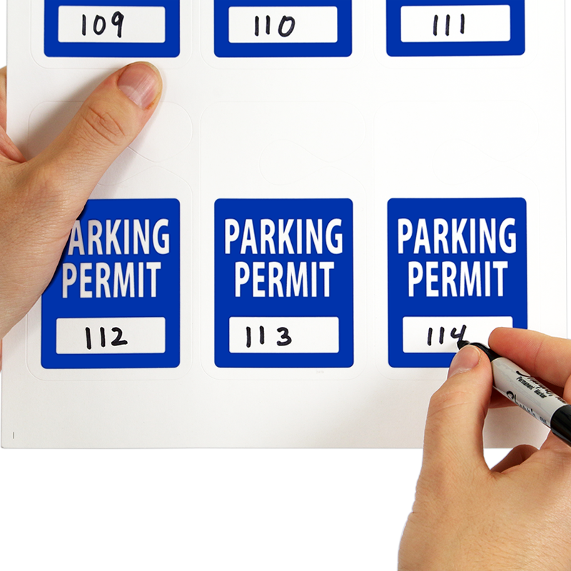 Visitor Parking Permit Hang Tag, Sequentially Numbered ...